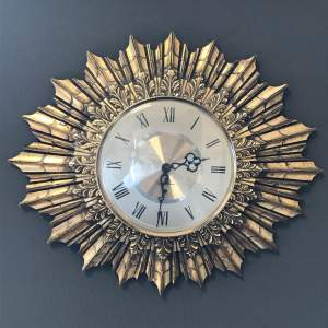 Vintage Seth Thomas Starburst Wall Clock