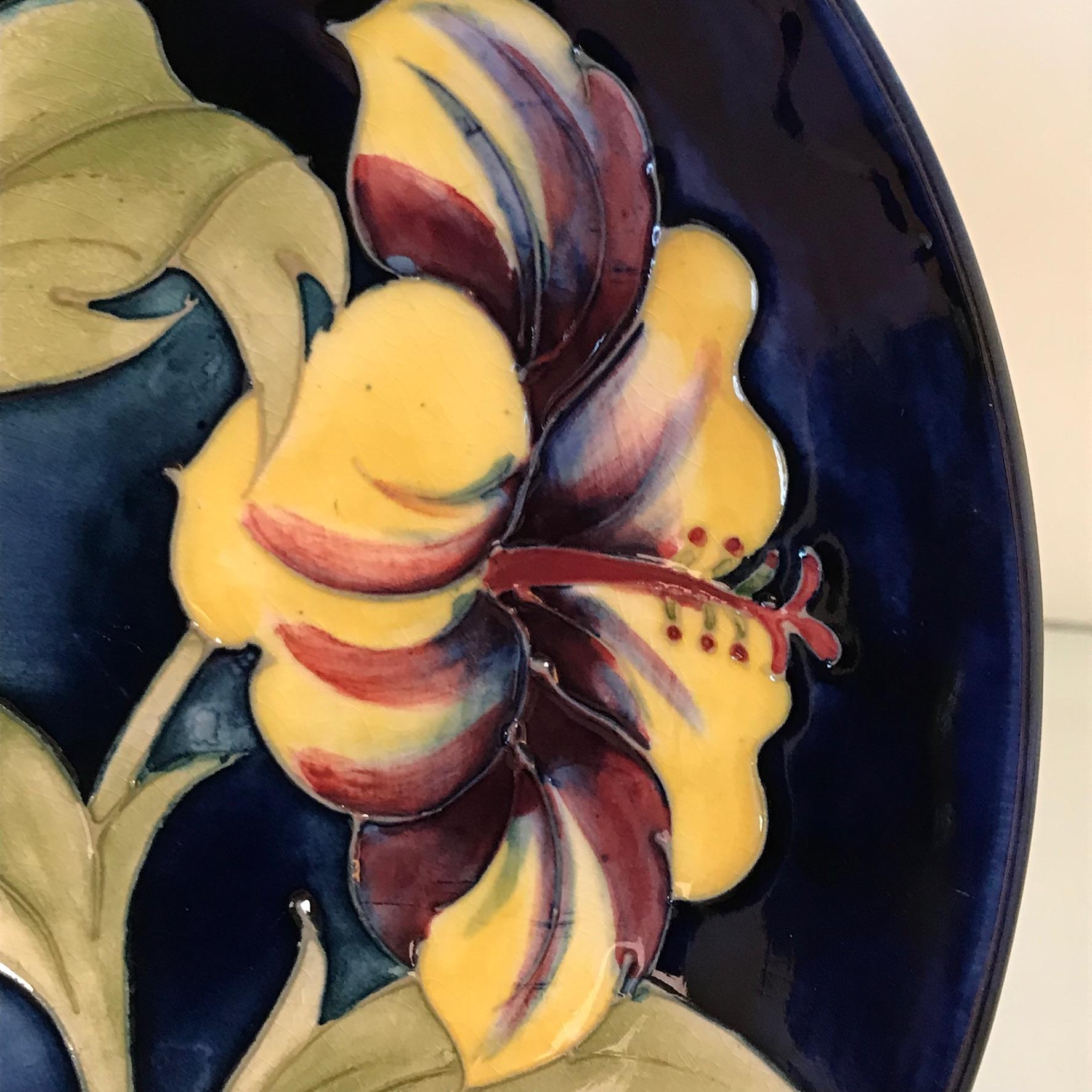 Moorcroft Pottery Hibiscus Dish - Ceramics - Hemswell