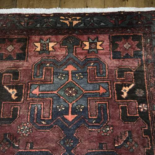Unusual Old Hand Knotted Kurdish Rug Good Design And Colours image-2