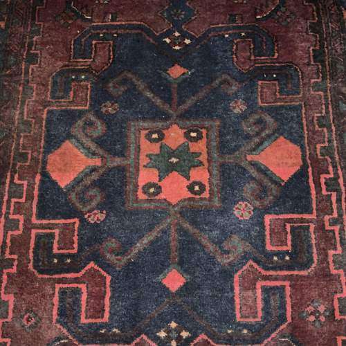 Unusual Old Hand Knotted Kurdish Rug Good Design And Colours image-3