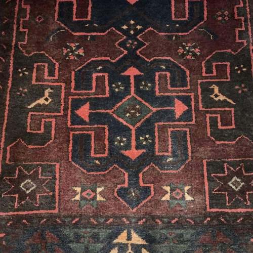 Unusual Old Hand Knotted Kurdish Rug Good Design And Colours image-4