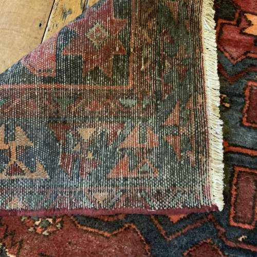 Unusual Old Hand Knotted Kurdish Rug Good Design And Colours image-5