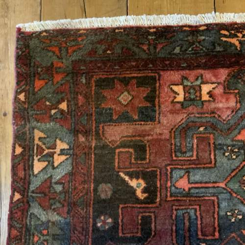Unusual Old Hand Knotted Kurdish Rug Good Design And Colours image-6