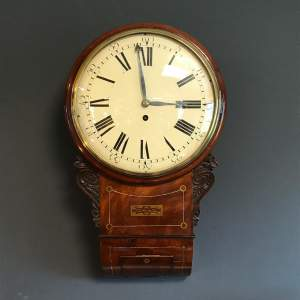 Mid 19th Century Drop Dial Fusee Wall Clock