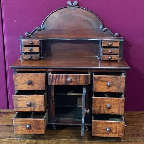 19th Century Miniature Mahogany Lincolnshire Dresser image-2