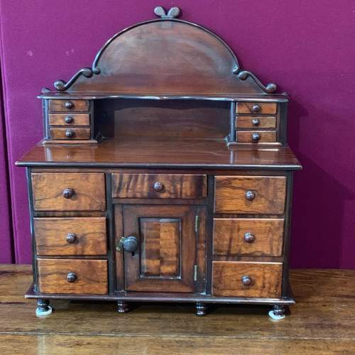19th Century Miniature Mahogany Lincolnshire Dresser image-1