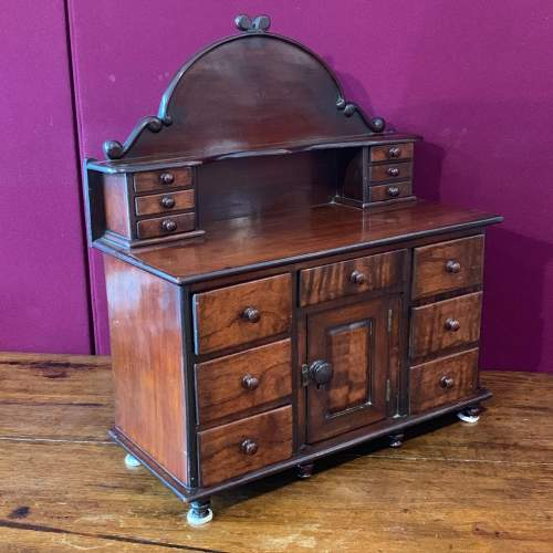 19th Century Miniature Mahogany Lincolnshire Dresser image-3