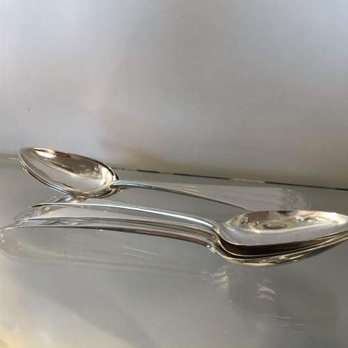 Set of Six George III Scottish Silver Table Spoons image-1
