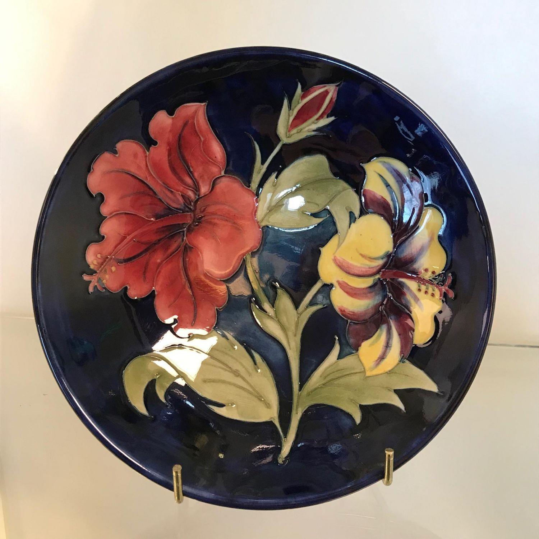 Moorcroft Pottery Hibiscus Dish