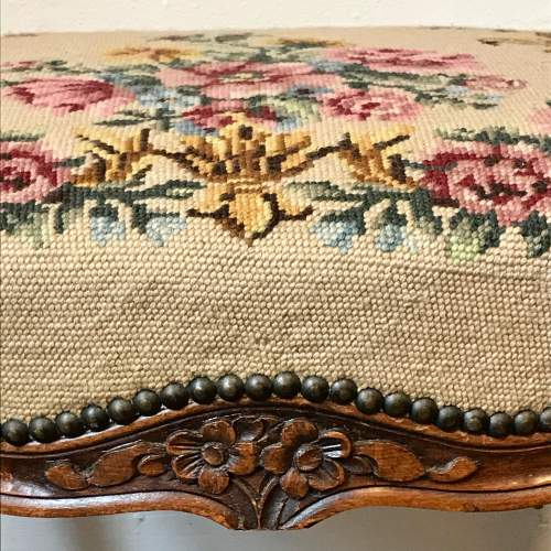 French Tapestry Top Stool image-3