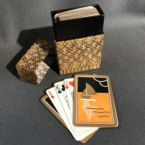 Art Deco Playing Cards in a Snakeskin Case image-1