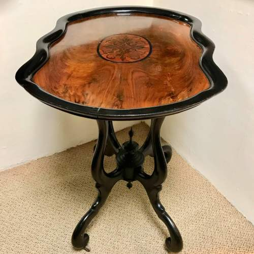 William III of the Netherlands Ebonised Tea Table image-6