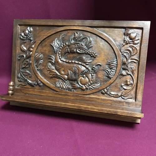 Carved Oak Book Rest image-1