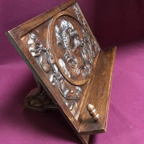 Carved Oak Book Rest image-2