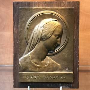 Bronze Plaque signed A Prost