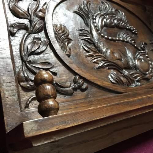 Carved Oak Book Rest image-5
