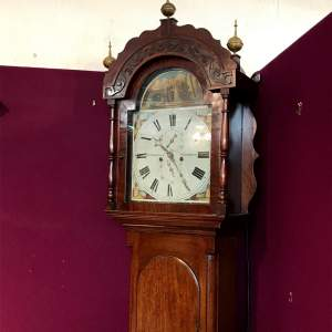 19th Century Eight Day Mahogany Longcase Clock