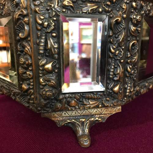French Brass Octagonal Mirrored Box image-6