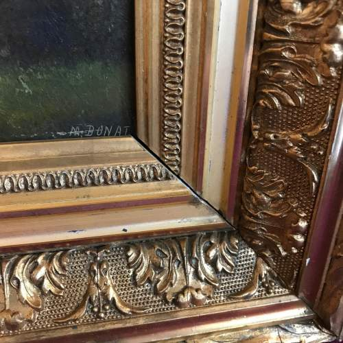 Framed 19th Century M Donat Oil on Panel of Wooded Glen image-3