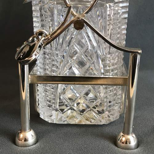 Silver Plated and Cut Glass Tantalus image-3