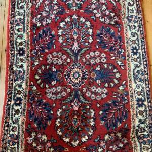 Old Hand Knotted Persian Runner Saruq Floral Medallion Design