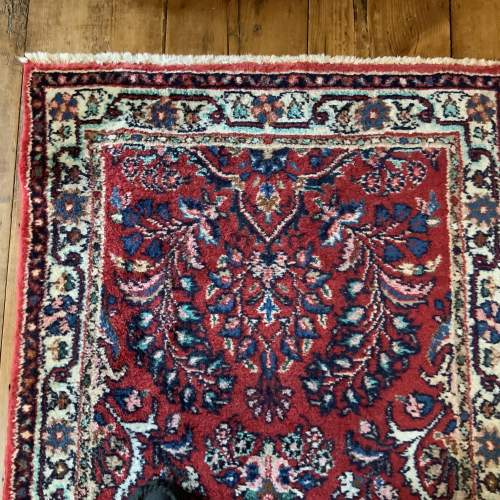 Old Hand Knotted Persian Runner Saruq Floral Medallion Design image-2
