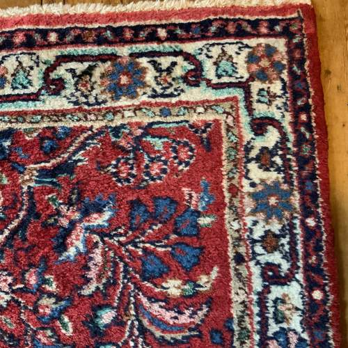 Old Hand Knotted Persian Runner Saruq Floral Medallion Design image-3