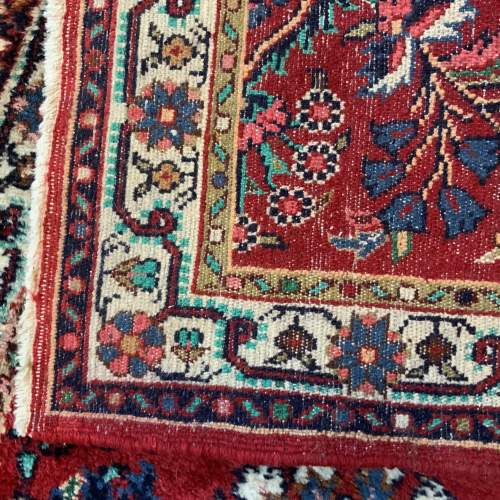 Old Hand Knotted Persian Runner Saruq Floral Medallion Design image-4