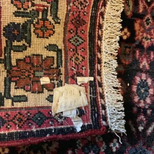 Superb Old Hand Knotted Persian Rug Bidjar In Herrati