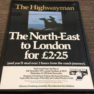 The Highwayman Framed Advertising Railway Poster