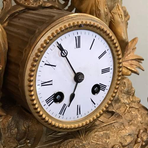 19th Century French Gilt Metal Clock by Japy Freres image-2