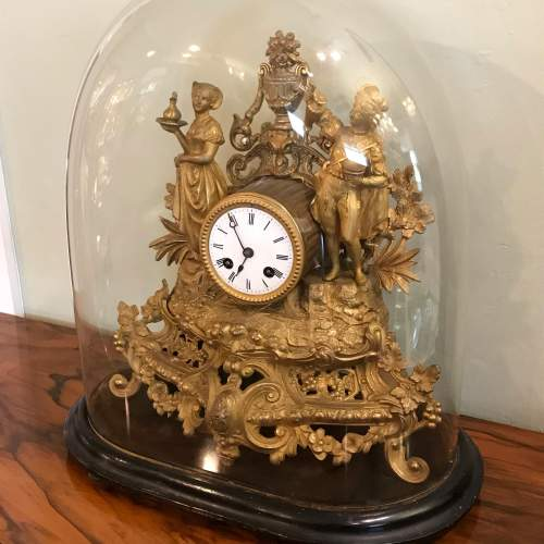 19th Century French Gilt Metal Clock by Japy Freres image-4
