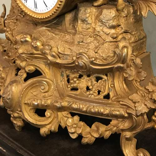 19th Century French Gilt Metal Clock by Japy Freres image-5