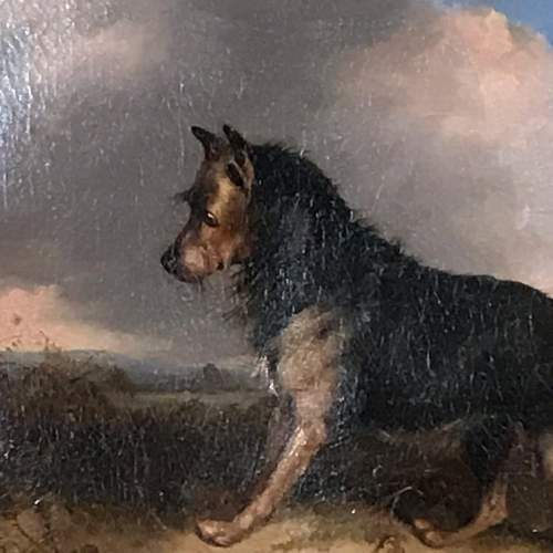 19th Century Oil Painting of a Dog image-2