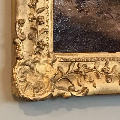 19th Century Oil Painting of a Dog image-3