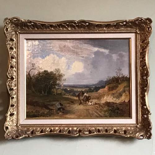 19th Century Landscape Oil Painting image-1