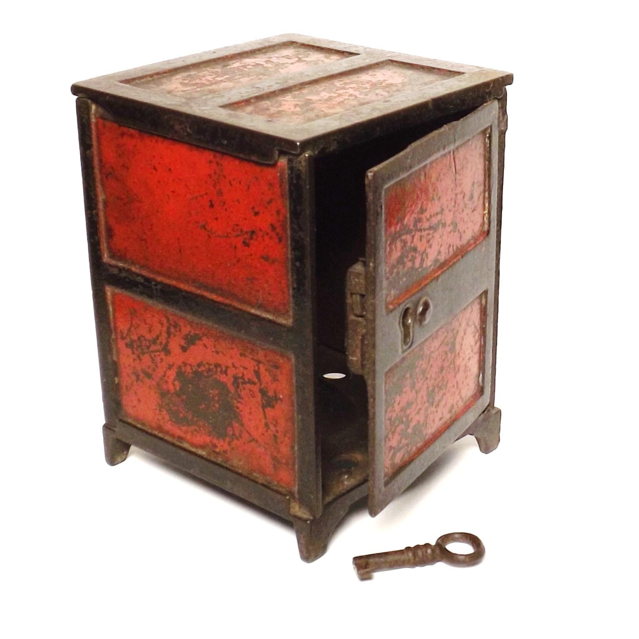 19th Century Victorian Cast Iron Desk Top Safe Money Box