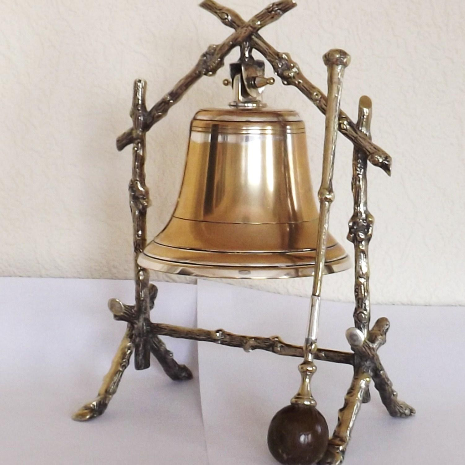 Victorian Aesthetic Movement Silver Plate Dinner bell with ...