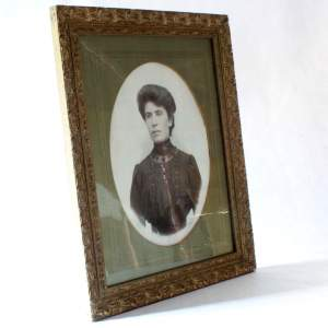 Art Nouveau Picture Frame with Photograph of a Woman