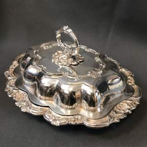 Victorian Old Sheffield Plate Entree Dish