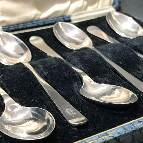 Cased Set of Six Silver Spoons image-4