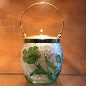 Baccarat Glass Biscuit Barrel