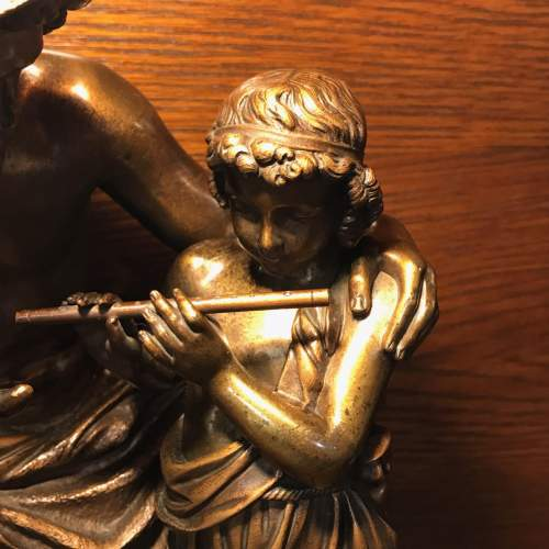 French Bronze Figure of a Boy Being Taught to Play the Flute image-2