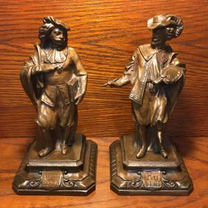 Pair of French Bronze Figures of Rubens and Van Dyck