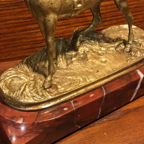 French Gilt Bronze Figure of a Race Horse image-3