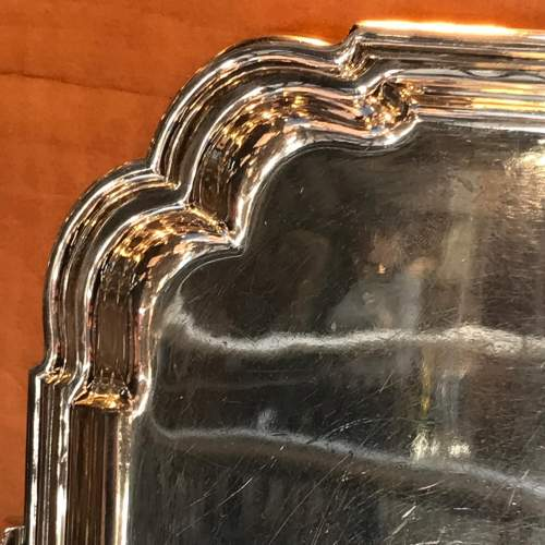George V Silver Tea Tray by Roberts and Belk image-3