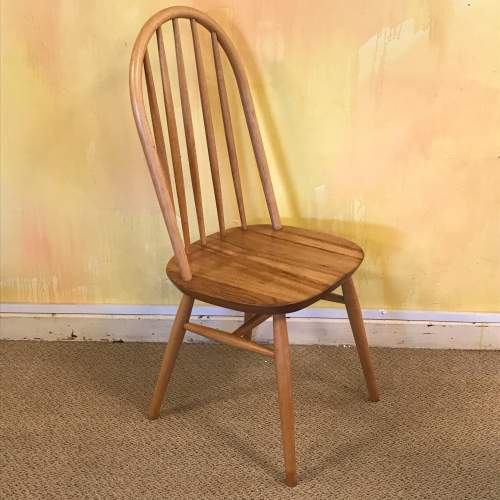 Set of Six 1970s Beech and Elm Dining Chairs image-3
