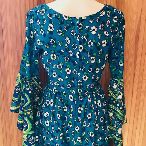 Early 1970s Floral Print Dress image-6