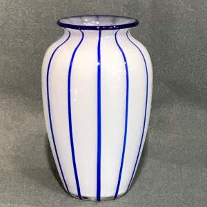 Loetz White Glass Vase by Michael Powolny