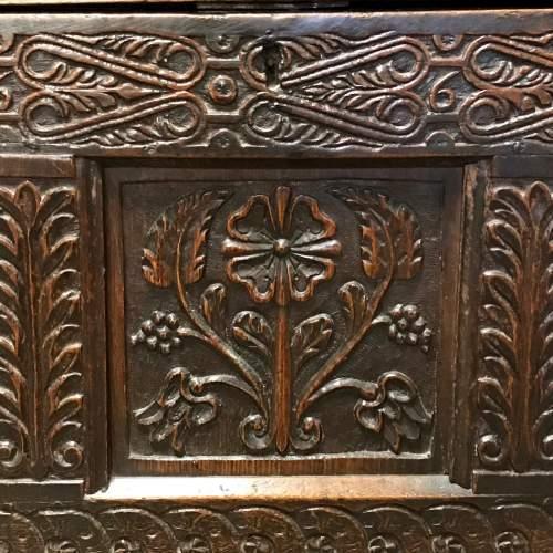 Dated 17th Century Oak Mule Coffer image-5